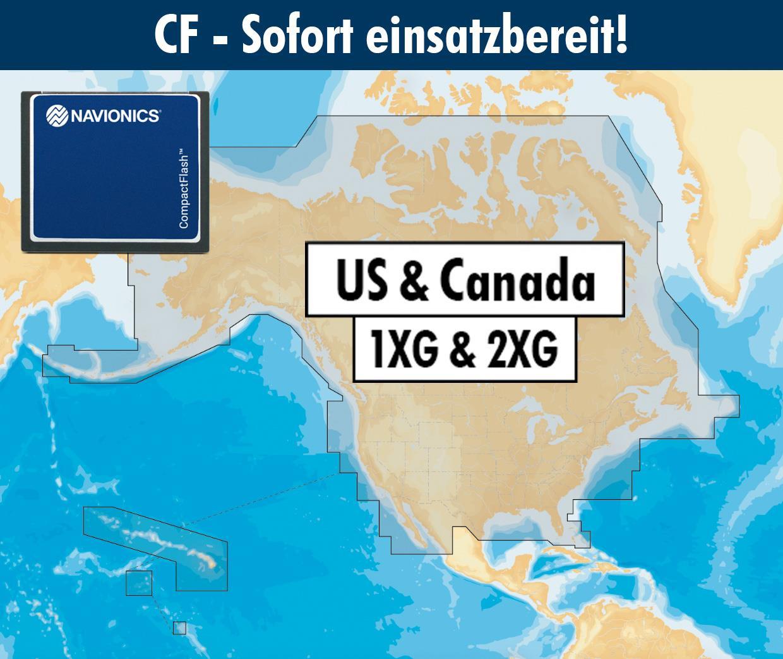 Navionics+ CF USA & Kanada (1XG2XG combi)