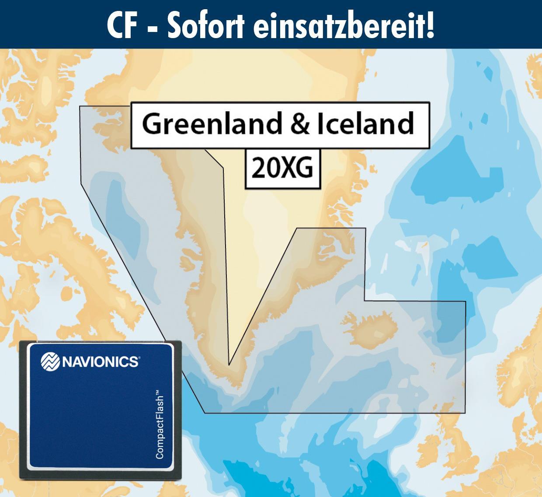 Navionics+ CF 20XG Grönland & Island (Greenland & Iceland)