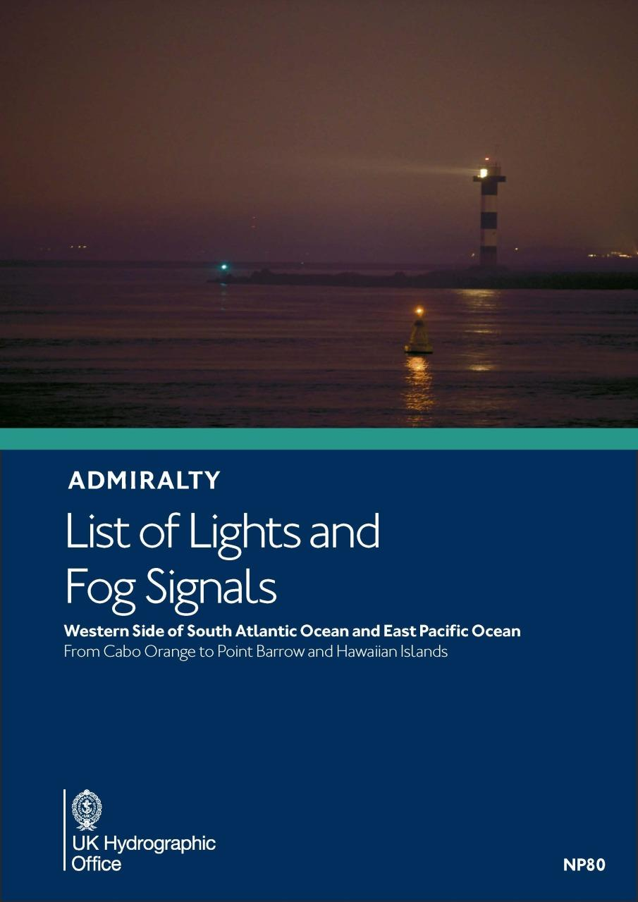 ADMIRALTY NP80 List of Lights and Fog Signals Volume G Western Side of South Atlantic