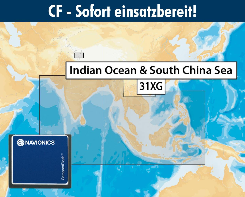 Navionics+ CF 31XG Indischer Ozean Indonesien bis Südchinesischem Meer (Indic & South China Sea)