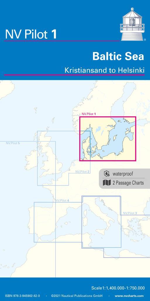 NV Pilot 1 Planungskarte Ostsee - Kristiansand bis Helsinki