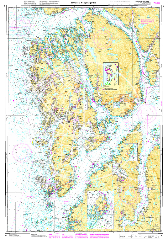 Norwegen N 19 Südwestküste von Osterfjorden und Sørfjorden