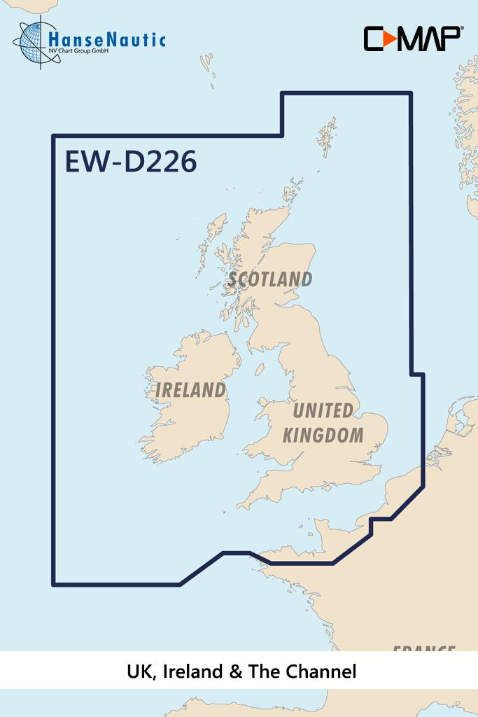 C-MAP 4D MAX+ Wide EW-D226 UK Ireland & The Channel