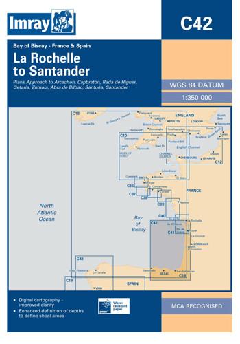 IMRAY CHART C42 La Rochelle to Santander