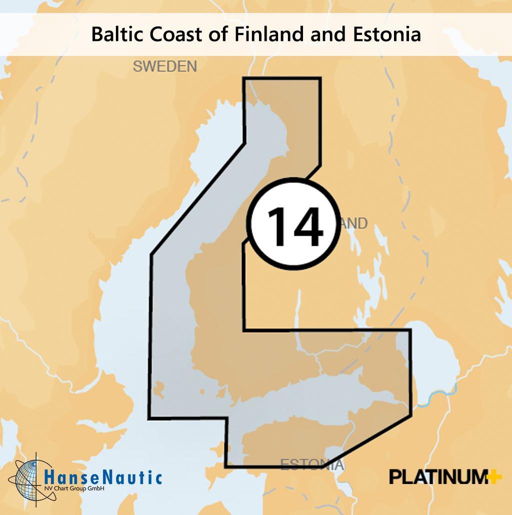 Navionics Platinum+ Ostseeküste von Finnland Åland Inseln Estland (14P+)
