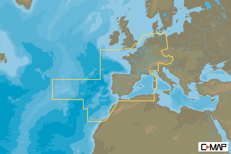 C-MAP 4D MAX EW-D060 Continental West- und Zentraleuropa