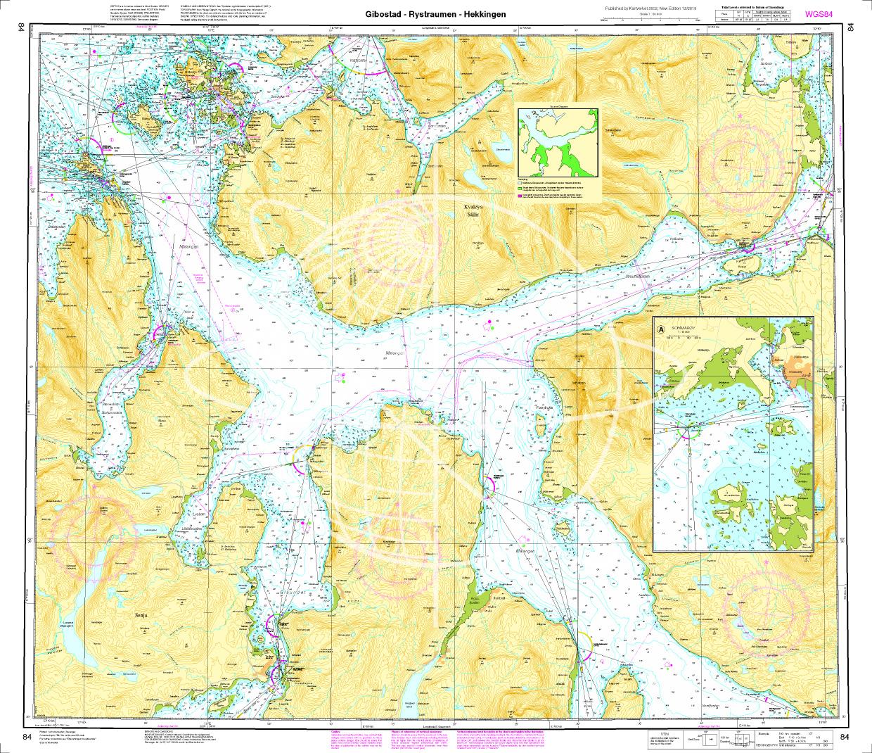 Norwegen N 84 Atlantik Gibostad - Rystraumen - Hekkingen