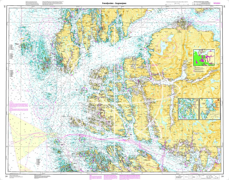 Norwegen N 24 Westküste mit Fensfjord und Meerenge Sognesjøen