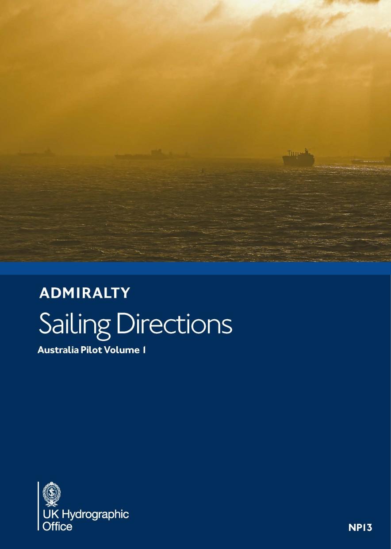 Admiralty NP13 Australia Pilot Vol 1 - Seehandbuch