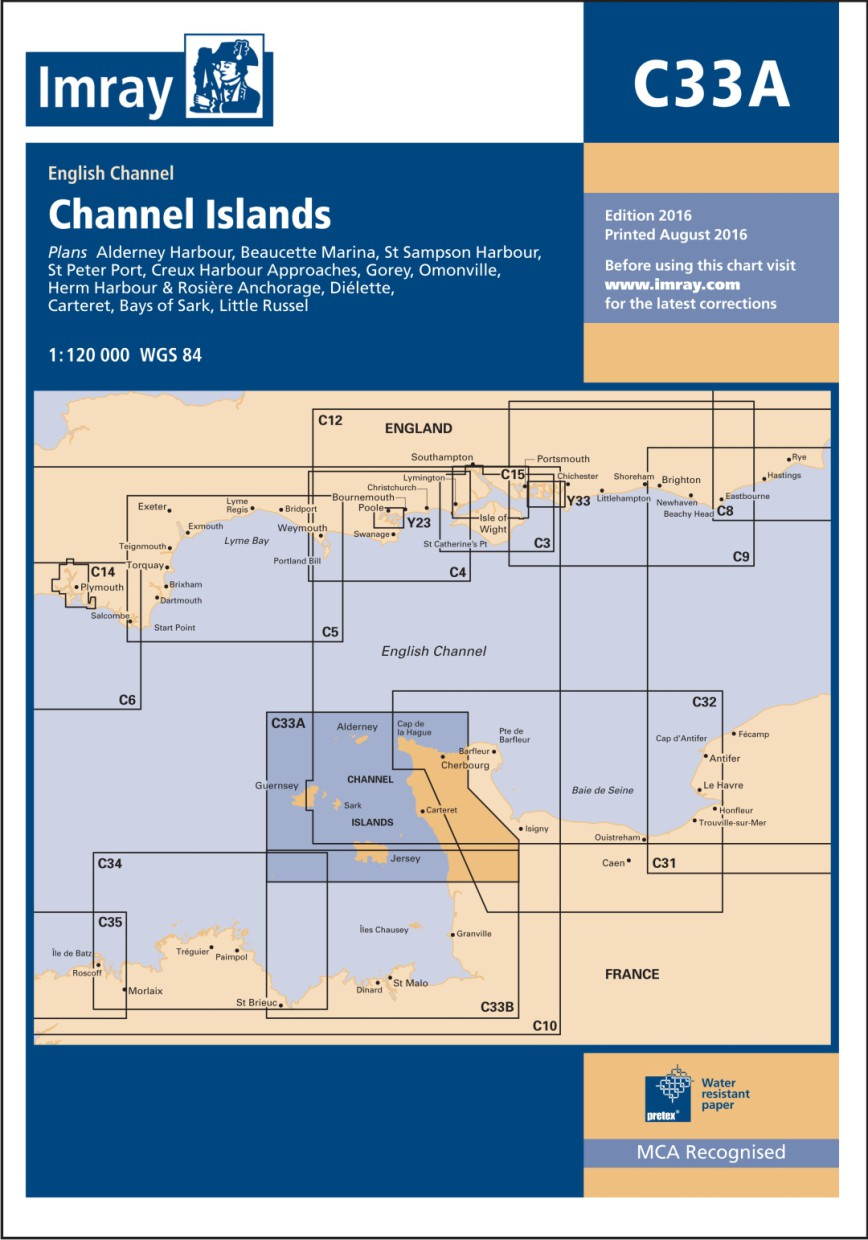 IMRAY CHART C33A Channel Islands (North)
