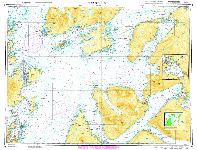 Norwegen N 80 Atlantik Harstad - Sjøvegan - Dyrøya