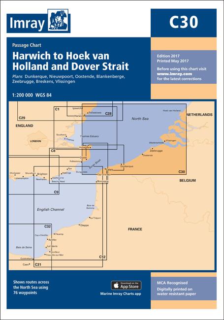 IMRAY CHART C30 Harwich to Hoek van Holland & Dover Strait