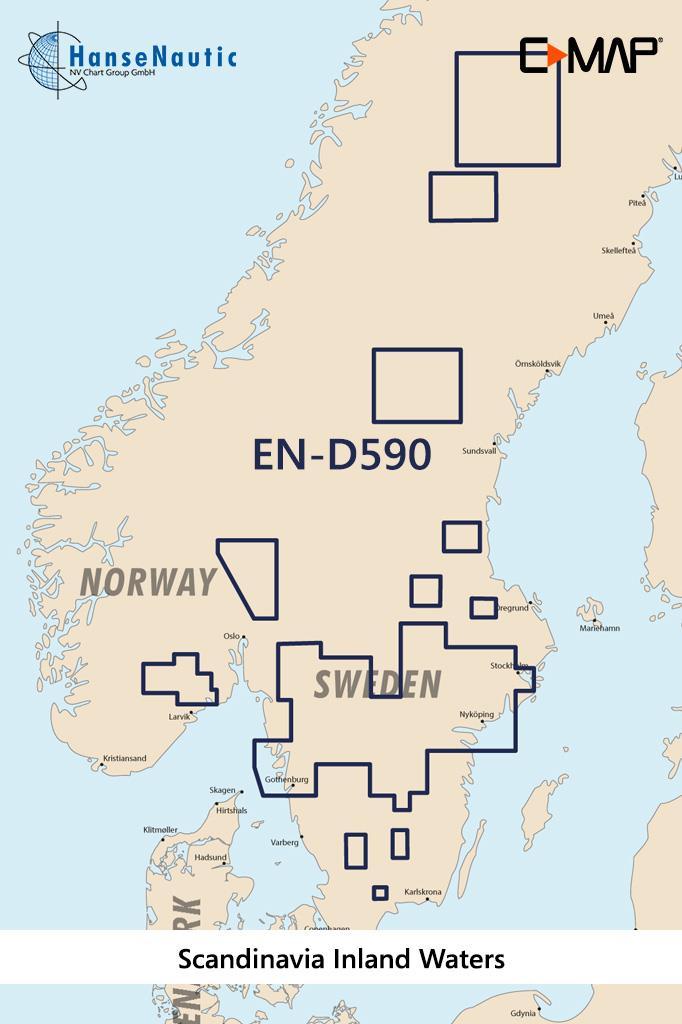 C-MAP 4D MAX+ Wide EN-D590 Scandinavia Inland Waters