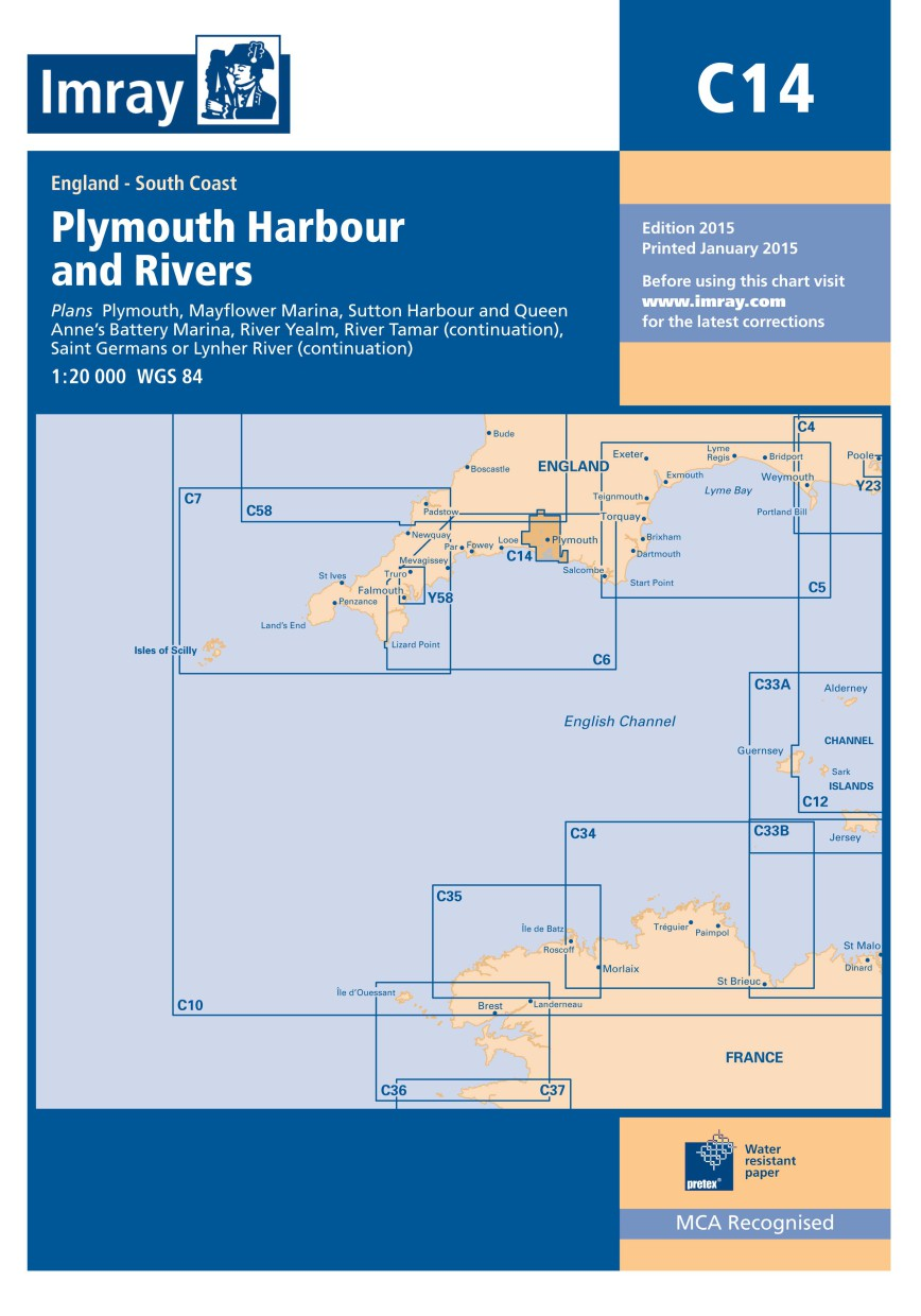 IMRAY CHART C14 Plymouth Harbour and Rivers