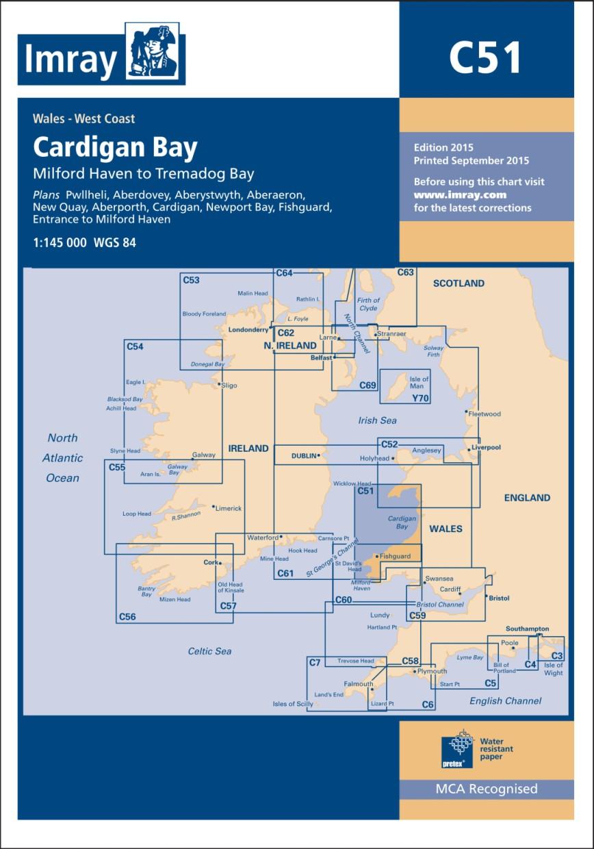 IMRAY CHART C51 Cardigan Bay Milford Haven to Tremadog Bay