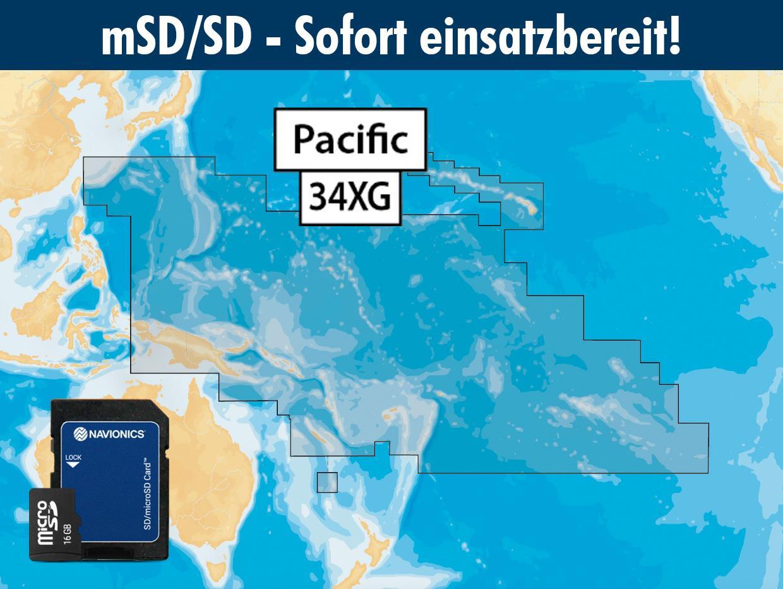 Navionics+ preloaded 34XG mSD Pacific Islands